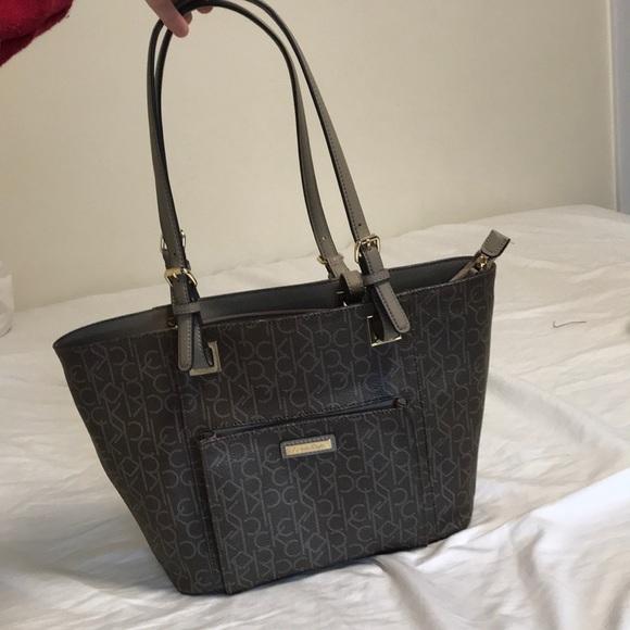 73e37c2bd10 Calvin Klein Bags | Brown Khaki Calvin Kline Womens Bag | Poshmark